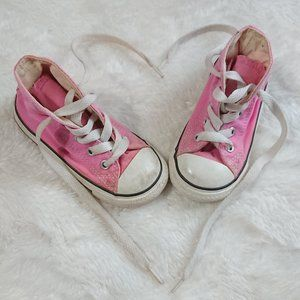 PINK CONVERSE shoes, Size 6